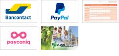 Overzicht betaalmethoden: Bancontact, Paypal, overschrijving, Payconiq by Bancontact en Pop.pas!